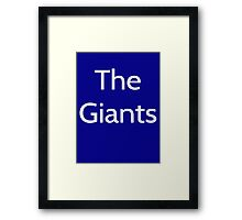 The Giants - New York Giants Framed Print