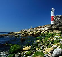 Portland Bill Lighthouse from the Rocks by Mark Hughes