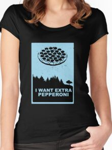 Xtra-Pepperoni Women's Fitted Scoop T-Shirt