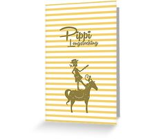 Pippi Longstocking Greeting Card