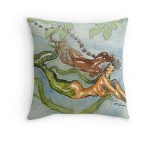 Seaweed Swim Throw Pillow
