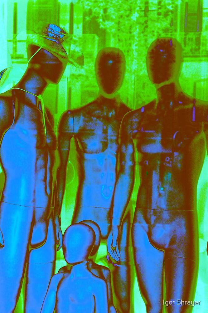 Parisian Mosaic - Piece 19 - Aliens in Paris by Igor Shrayer