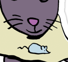 hungry cat Sticker