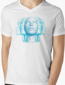 Faces Mens V-Neck T-Shirt