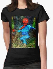 Pumpkin Head Scarecrow Womens Fitted T-Shirt