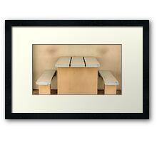 Have a seat - Newcastle Baths Framed Print