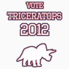 Vote Triceratops 2012 by jezkemp