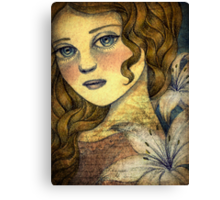 Lily at Midnight Canvas Print
