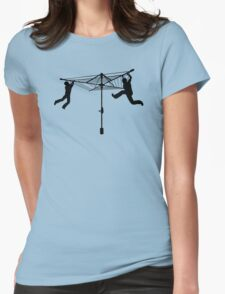 Merry Go Hills Hoist Womens Fitted T-Shirt