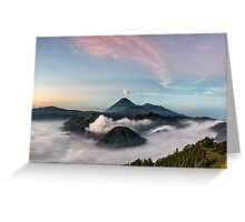 Mount Bromo Sunrise Greeting Card