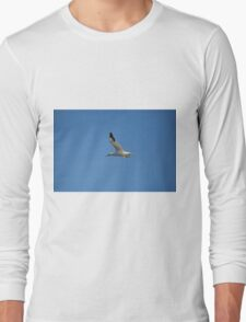 Gannett over the North sea Long Sleeve T-Shirt