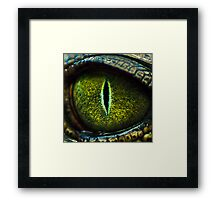 Eye of the Crocodile II [Print & iPad Case] Framed Print