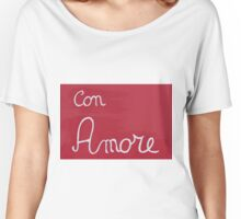 love written on red wood Women's Relaxed Fit T-Shirt