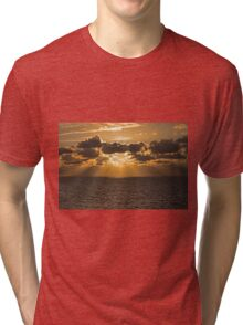 Sunset over the North sea Tri-blend T-Shirt