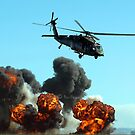 Australian Army helicopter signed by Bev Pascoe