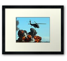 Australian Army helicopter signed Framed Print