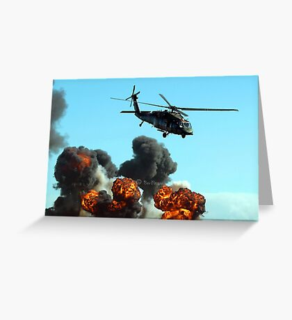 Australian Army helicopter signed Greeting Card