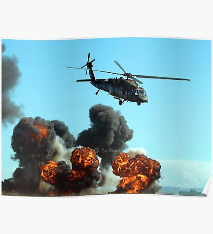 Australian Army helicopter signed Poster