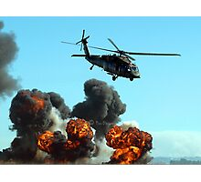 Australian Army helicopter signed Photographic Print
