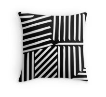 Strypes BW Throw Pillow