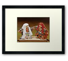 Lion Dancers Framed Print