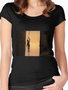 The stillness of a summer sunset Women's Fitted Scoop T-Shirt