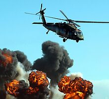 Australian Army Helicopter 3 by Bev Pascoe