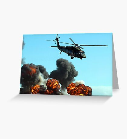 Australian Army Helicopter 3 Greeting Card