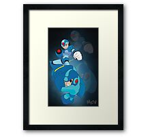 Rockman X and classic Rockman Framed Print