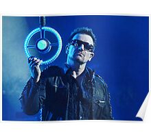 Bono looking at you. Poster