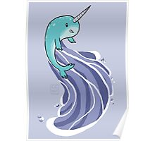 Narwhal Surf Poster