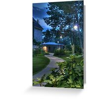 The Curved Sidewalk (Re-revisited) Greeting Card