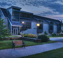 Abram Nesbitt III Academic Commons (blue hour) by Aaron Campbell