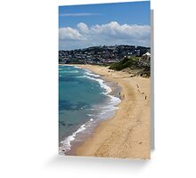 The Golden Shores Of Bar Beach Greeting Card