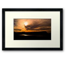 Don Heads Sunset Framed Print