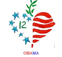Obama 2012 poster by paintpaintdraw