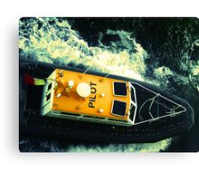 Pilot boat off the coast of Honolulu, HI Canvas Print
