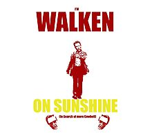 Walken on Sunshine for Cowbell Photographic Print