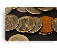 World War II coins Canvas Print
