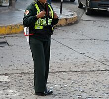 Peruvian Policewoman by Maggie Hegarty