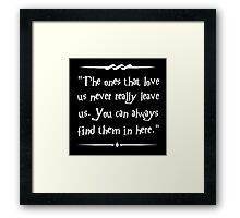 Sirius Black wisdom Framed Print