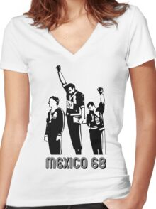 1968 Olympics Black Power Salute V2 Women's Fitted V-Neck T-Shirt