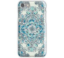Floral Diamond Doodle in Teal and Turquoise iPhone Case/Skin
