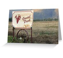 Beef Capital Greeting Card