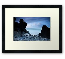 Guardian Rocks Framed Print