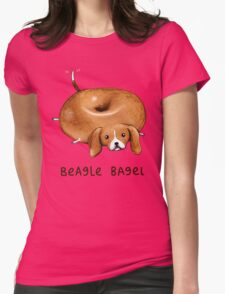 Beagle Bagel Womens Fitted T-Shirt