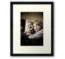 Brothers and Buddies Framed Print