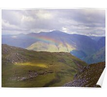 Rainbow over Strath Croe Poster