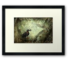 """""""Hidden ,within the Elm she sits....."""" Framed Print"""