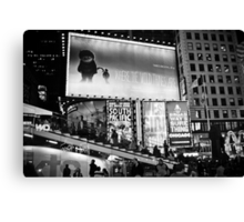 Times Square: where the wild things are Canvas Print